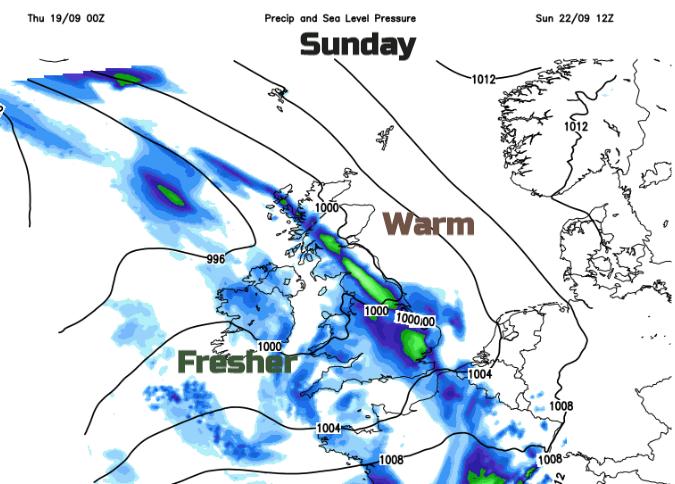 Sunday UK weather