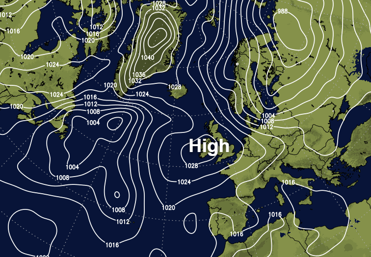 High pressure dominating this week