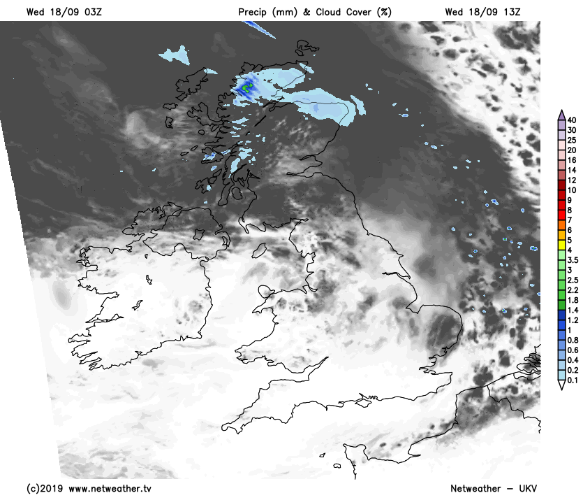 Some rain in the north today, lots of sunshine elsewhere
