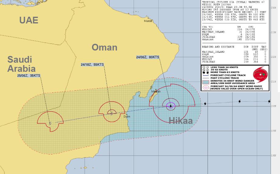 Tropical Cyclone Hikaa 03A