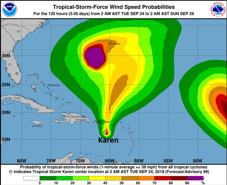 Tropical Storm Karen Puerto Rico BVI
