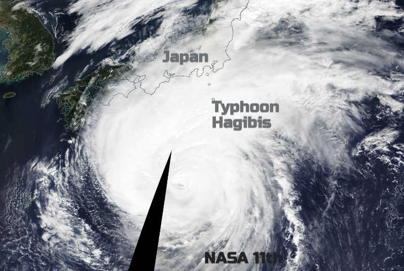 Typhoon Hagibis heading for Japan this weekend, concerns for F1 and Rugby World Cup