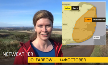 Wet October continues with Amber warning for Thunderstorms