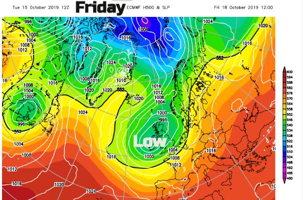 Friday low pressure ECM
