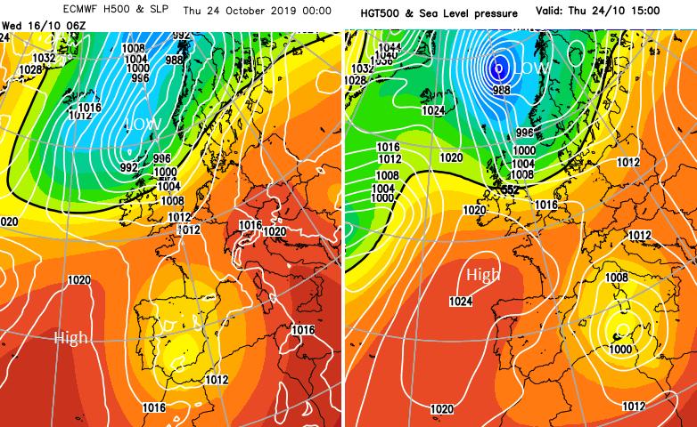 Half term forecast UK October holidays