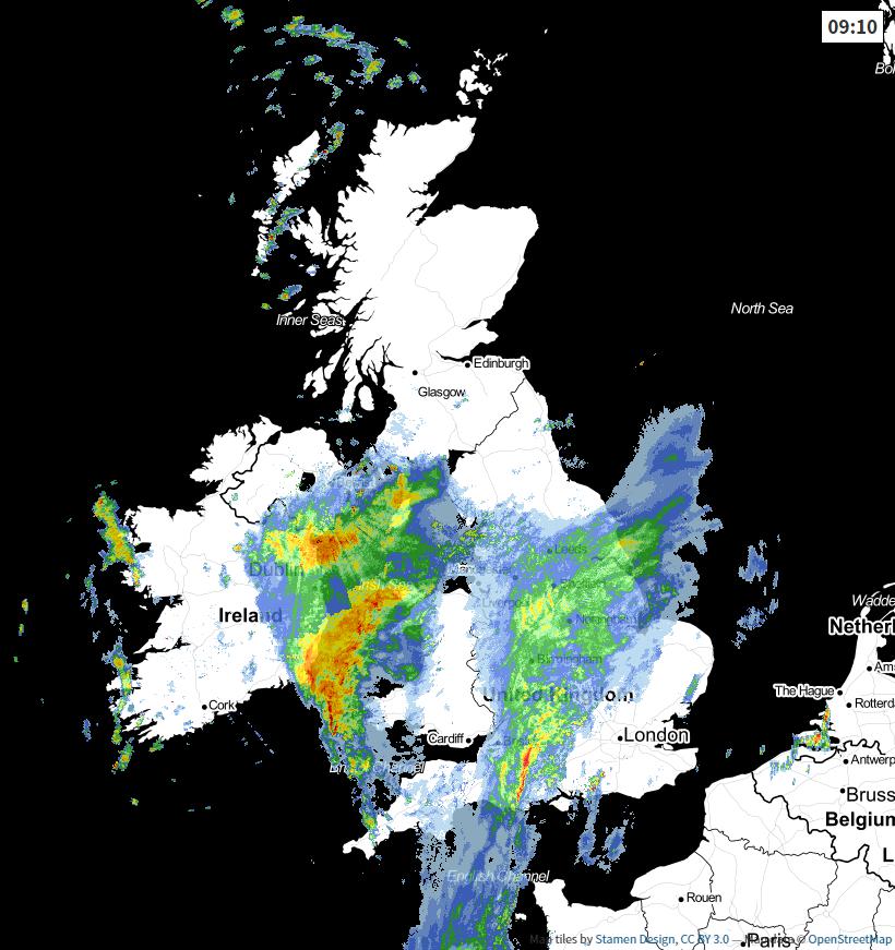 Radar at 0910 this morning