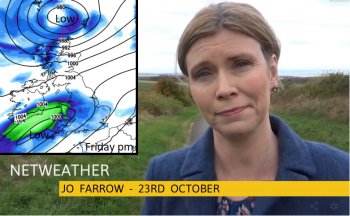 VIDEO: October rains return with strong winds, then a chill