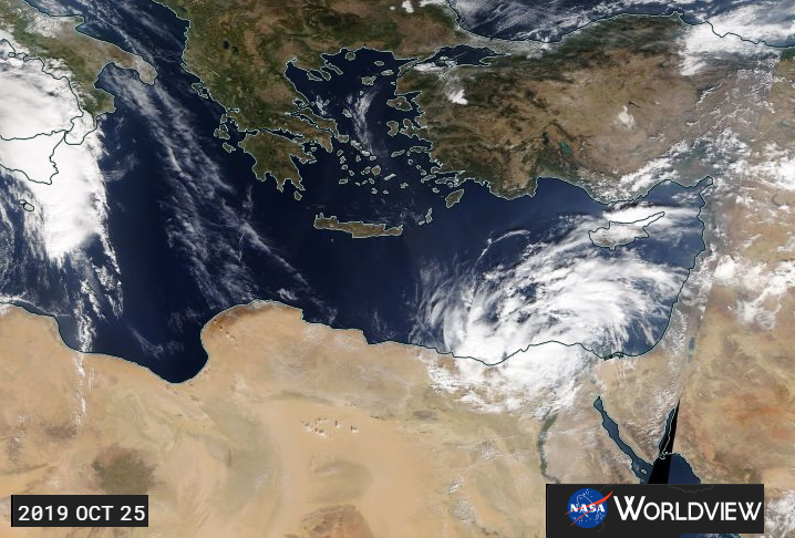 Medicane: Mediterranean tropical-like cyclones. Strong winds and heavy rain for Israel and Egypt