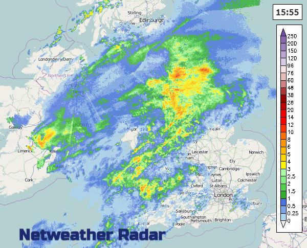 UK weather Radar rain