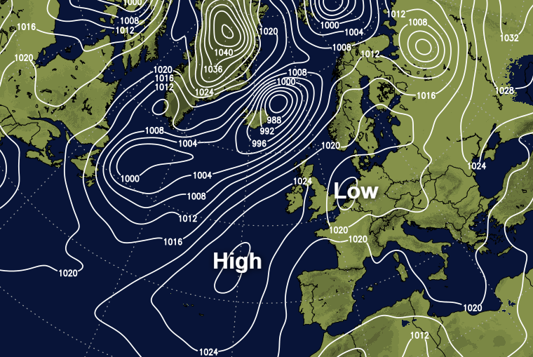 High pressure on the scene but low pressure still closeby