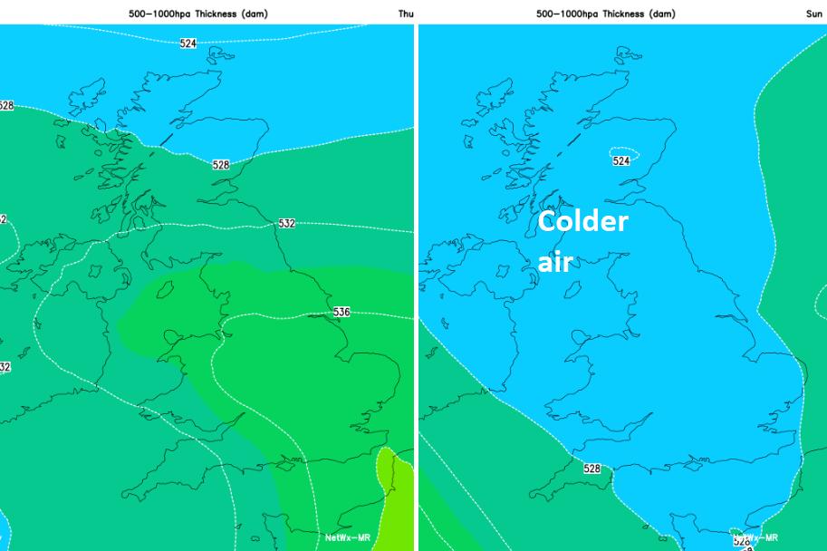 Colder air for UK
