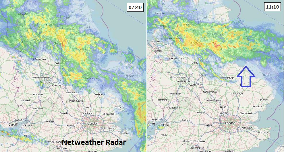 Netweather Radar UK rain