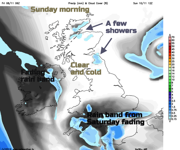 Remembrance Sunday weather 2019