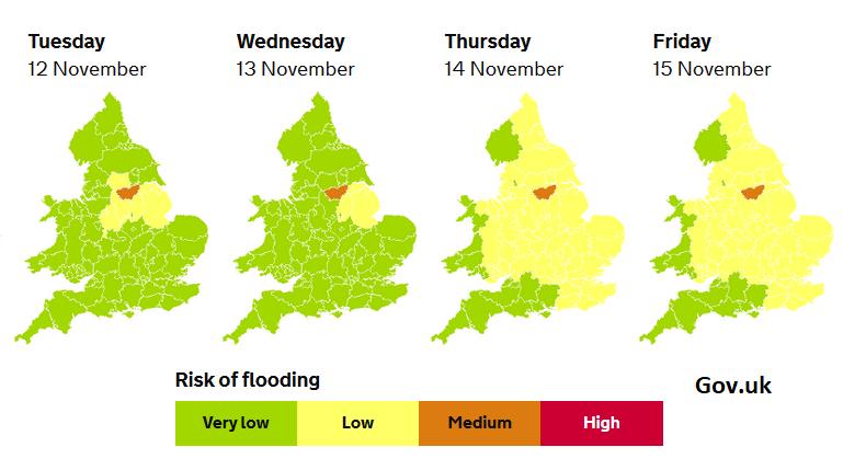 River levels flooding UK England Flood risk