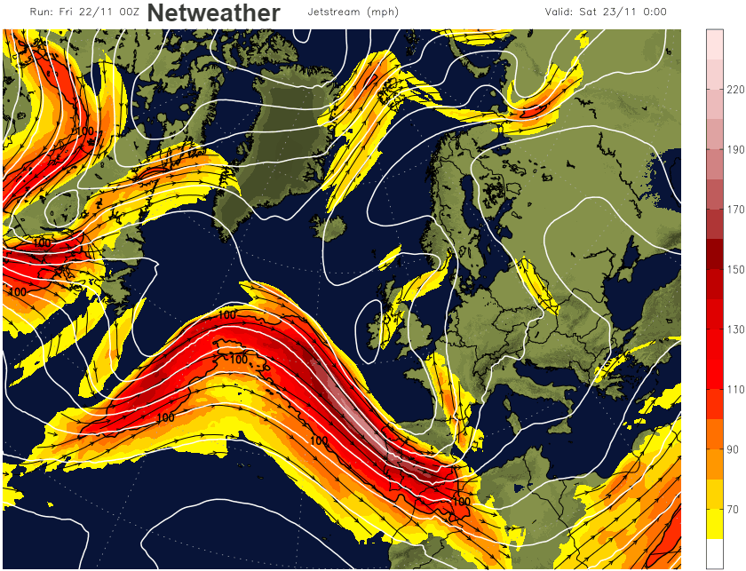 Netweather Jetstream UK