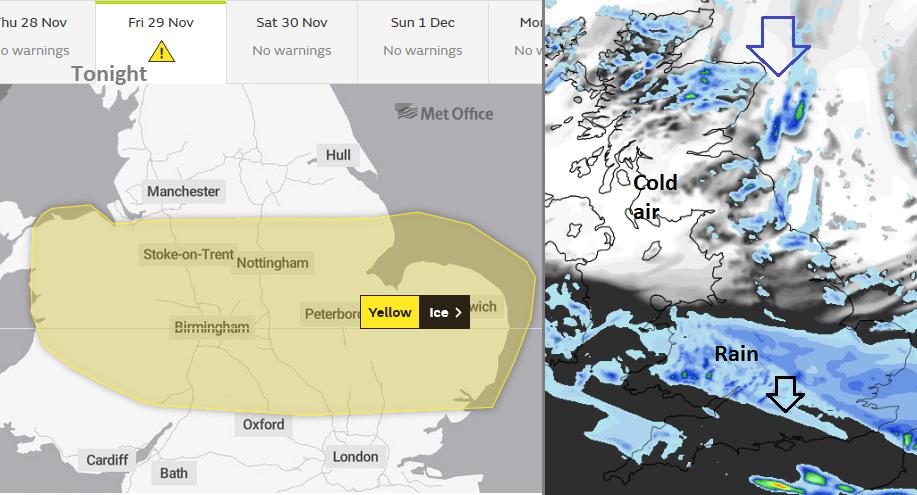 UK Ice warning