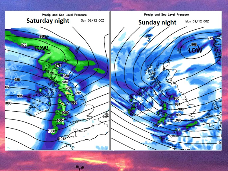 Hold onto your hats. Wet and windy weather rattling by in a turbulent week for the UK.