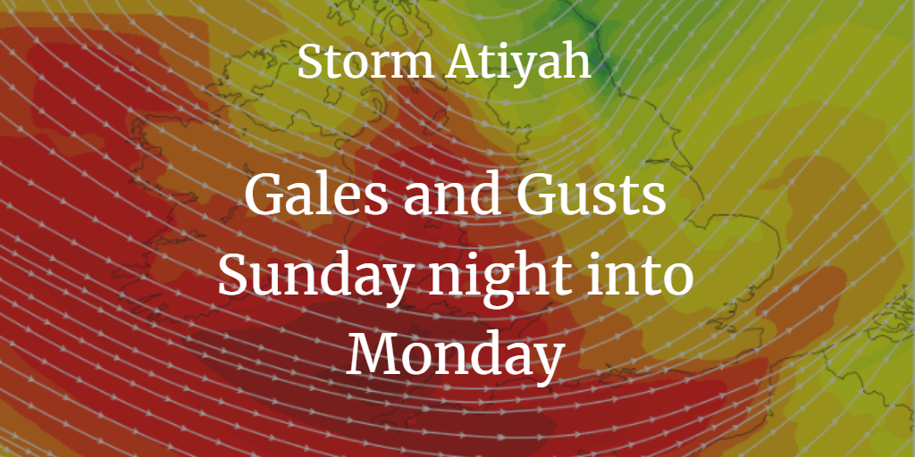 Storm Atiyah: 1st named storm of 2019/20 season. Gales and gusts for early December