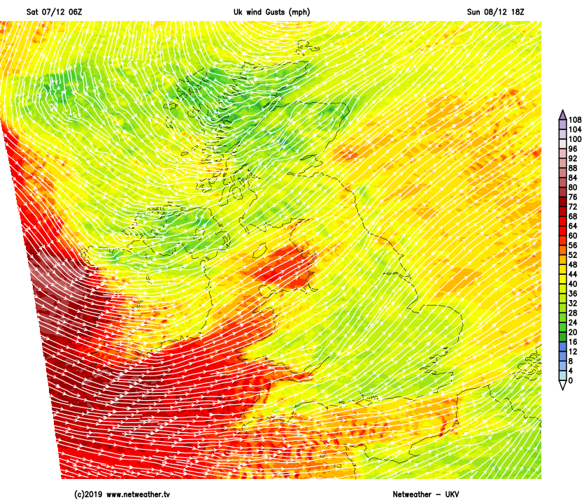 Severe gales on Sunday evening as storm Atiyah arrives