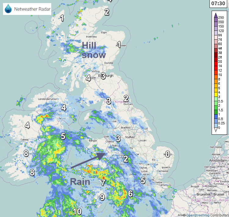 Election day rain UK
