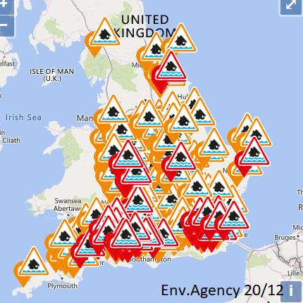 England flood alerts Wales