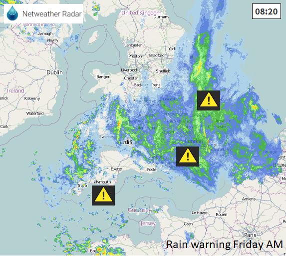 UK rain weather warning flooding