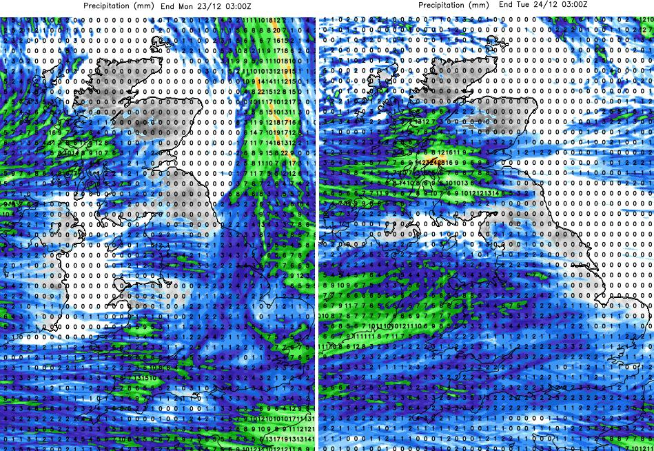 UK rain forecast totals