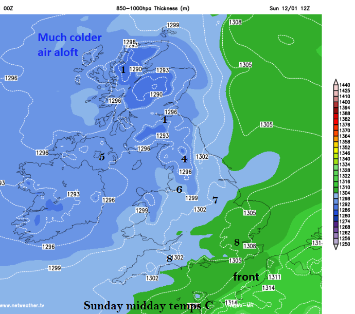 Sunday 12th UK temps cold