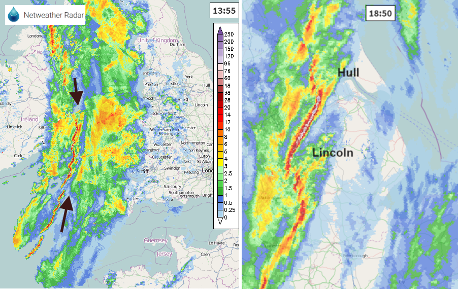 Line convection in Storm Brendan