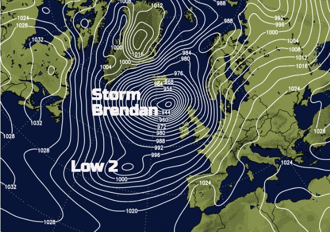 Storm Brendan January 2020 - Two lows, enough warnings?