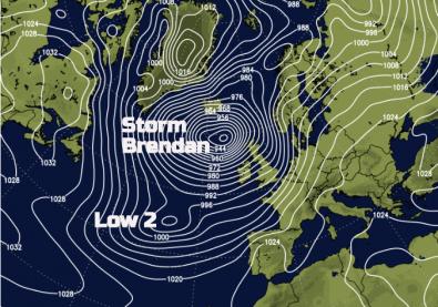 Storm Brendan January 2020 - Two lows, enough warnings?