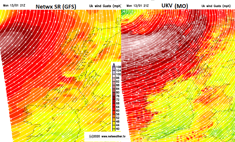 Core of strong winds Storm Brendan away to NW this eve