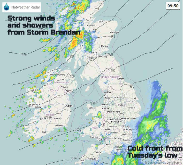 Rain UK Storm Brendan