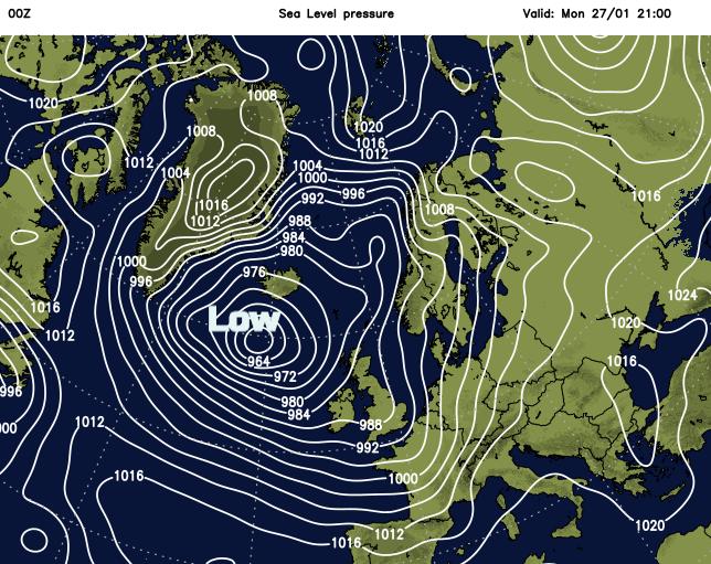 Low pressure UK