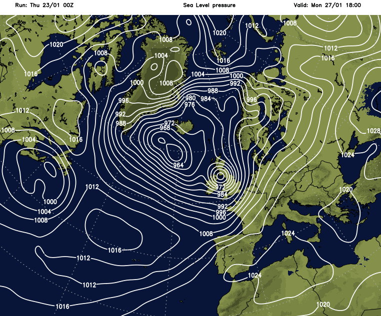 Potential for stormy winds on Monday