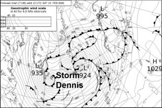 Storm Dennis Becomes A Menace Over The Weekend -  Bringing Flooding & Gales