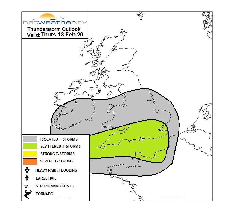 Storm forecast Map