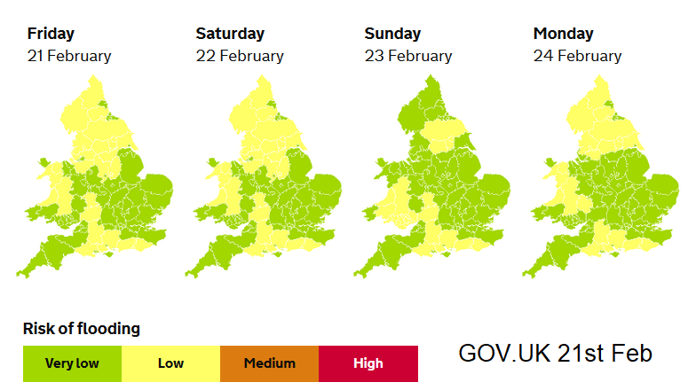 5 day flood outlook England and Wales