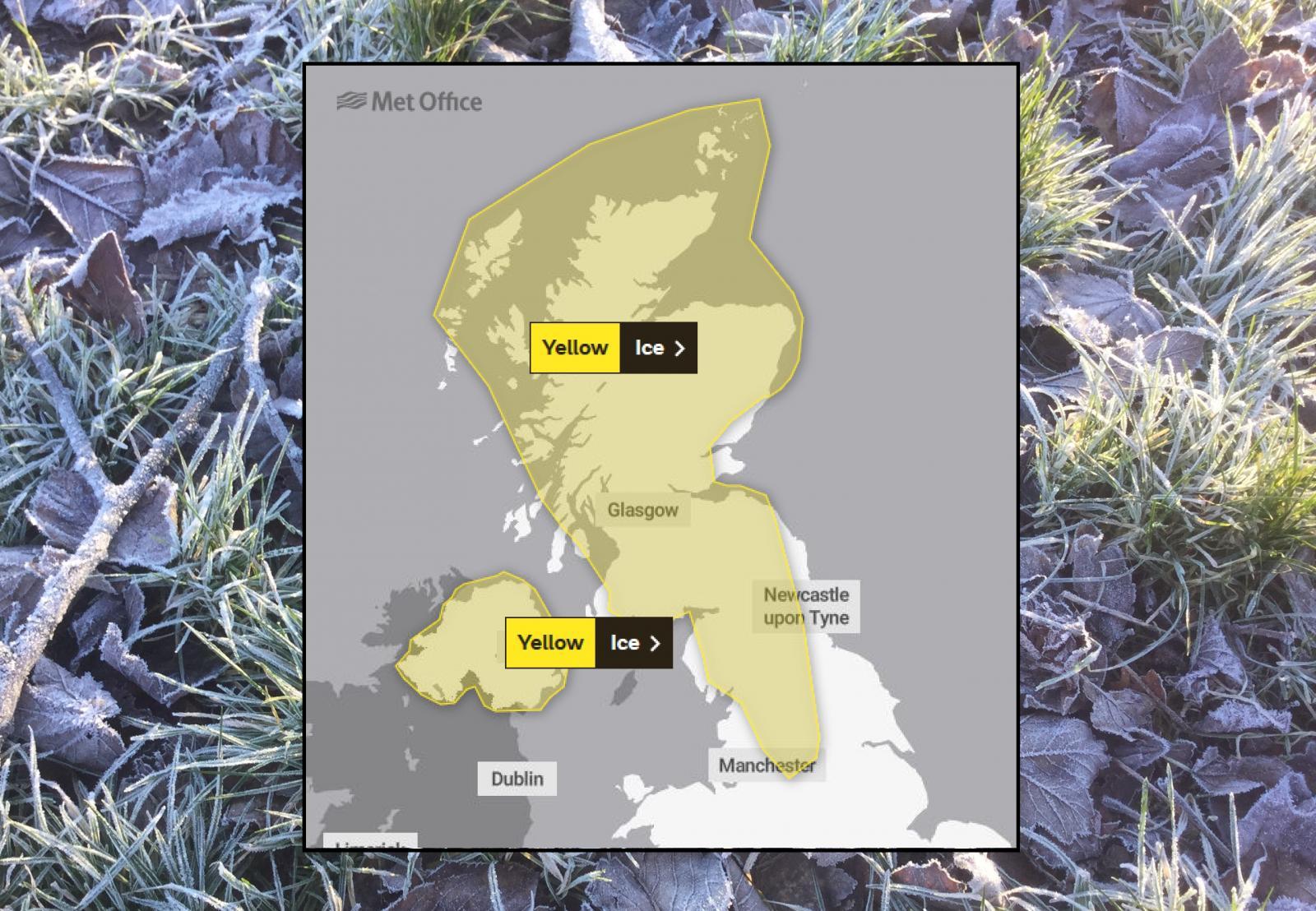 Ice warning scotland Northern Ireland