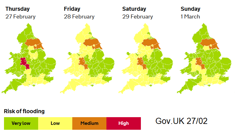 Flood warnings Environment Agency