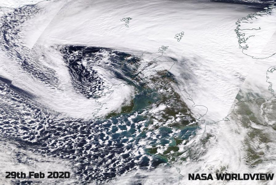 Storm Jorge NASA satellite