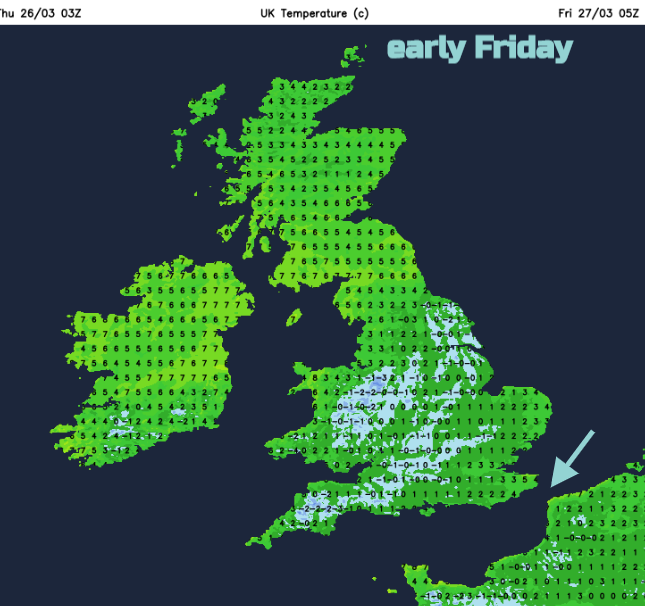 Frost risk continues UK