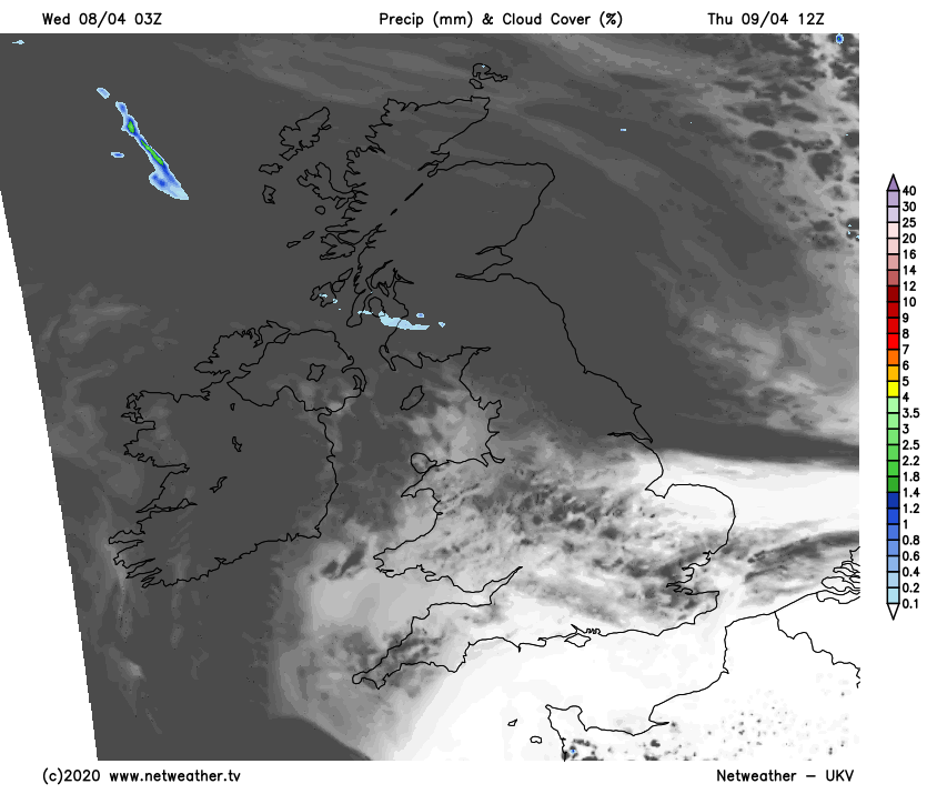 Cloudier on Thursday