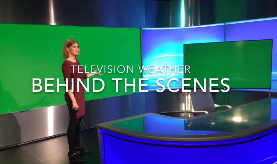 Behind the scenes weather broadcast with Jo Farrow