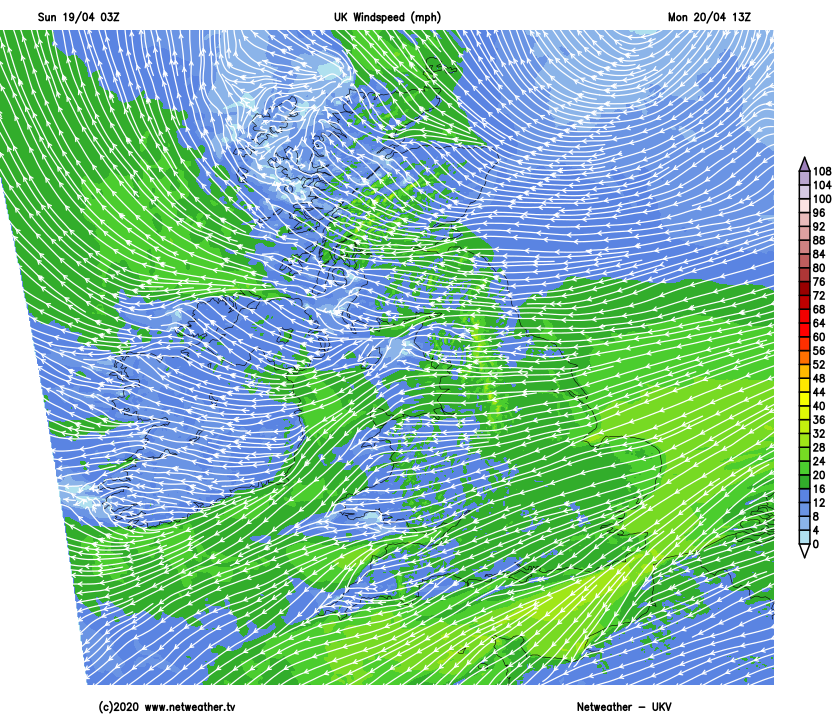Easterly winds making it feel noticeably colder on Monday
