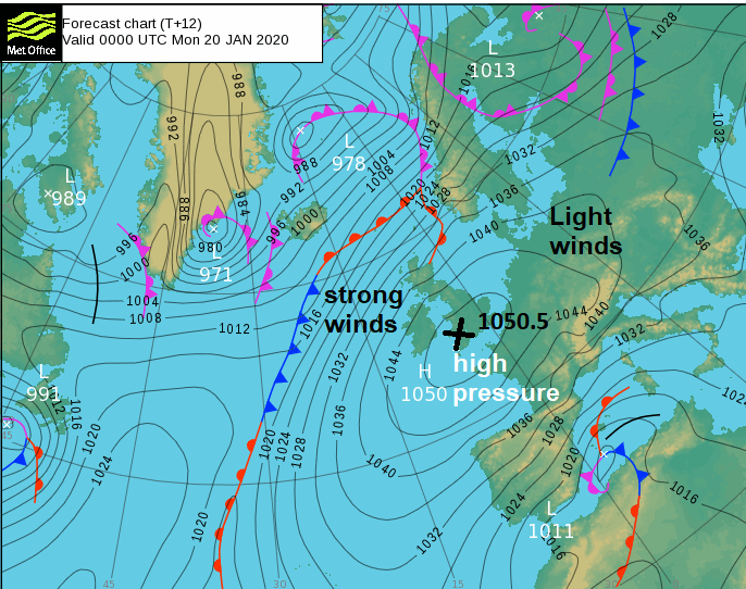 Anticyclones or high pressure