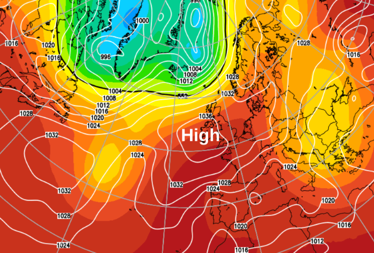 Week Ahead: High Pressure Firmly In Control, No Rain For Most