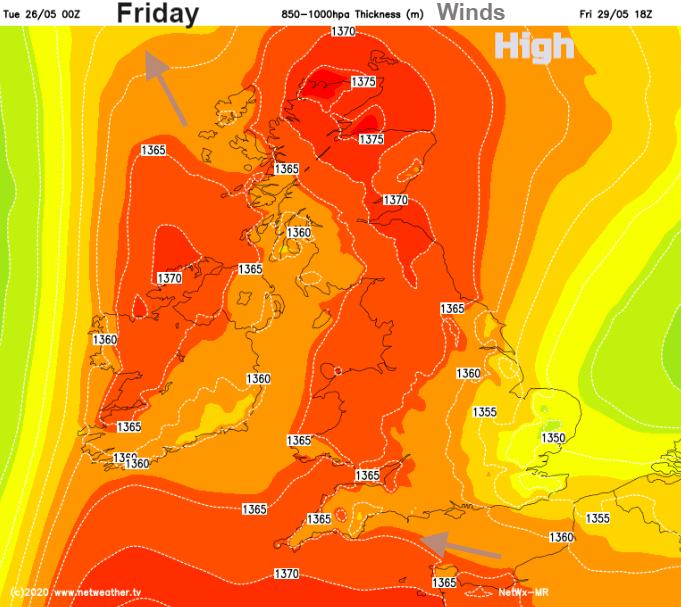Friday UK warmth
