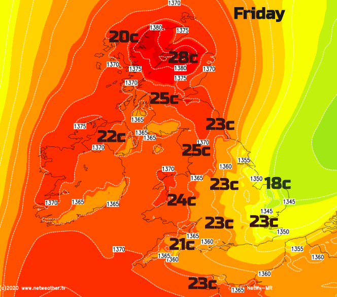 UK temperatures