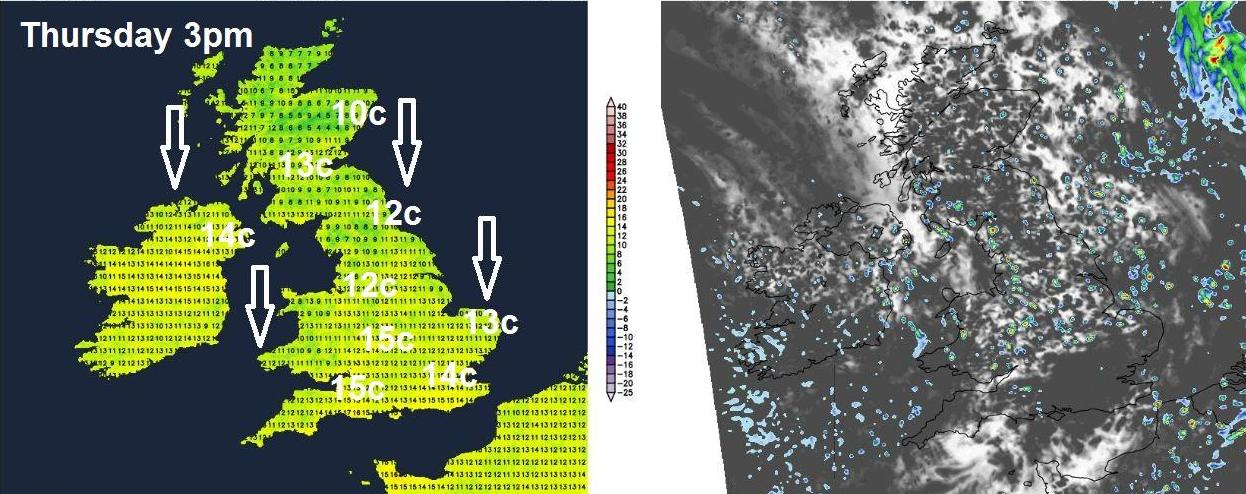 Weather on Thursday afternoon